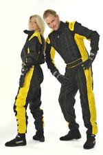 Speed Rennsport Overall - Schwarz/gelb - Kartoverall - Racing Suit - 98 - XXL