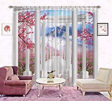 3D White Stone Column 6 Blockout Photo Curtain Printing Drapes Fabric Window CA