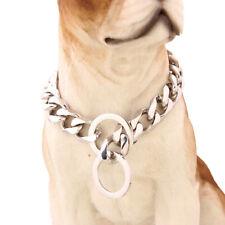 12/15/17/19mm Silver Stainless Steel Collar Choker for Pet Dog doberman Pitbull