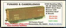 Funaro F&C 8195 READING  RDG Old Time 1920's XMp DS 36' Wood Boxcar 1-PIECE BODY