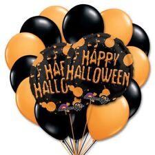 30.5cm naranja y negro de látex para Halloween Globos Papel Aluminio 45.7cm
