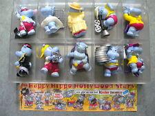 HAPPY HIPPO HOLLYWOOD STARS - ÜBERRASCHUNGS EI FIGUREN  Ü-Ei-Satz + 1 BPZ 1997