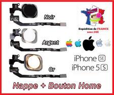 NAPPE + BOUTON HOME IPHONE 5S / 5SE   BLANC/ARGENT/OR/DORE/NOIR