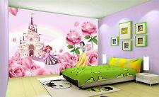 3D Disney Princess Castle Wallpaper Princess Ariel Snow White Wall paper