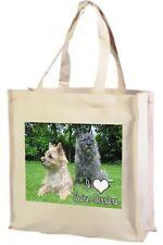 Cairn Terrier Cotone Shopping Bag, ADORO Cairn Terriers-CANI SCIOLTI-scelta di colori!