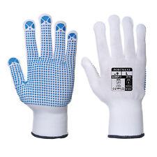 Gloves 24 Pairs Portwest Nylon Polka Dot Work Gloves Safety Grip Gardening  A110