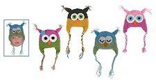 Mütze Eule Winter Eulendesign Kindermütze 4-fach Owl Einheitsgröße Kleinkind