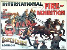 1903 internazionale POMPIERI esposizione Earls Court Londra POSTER A3 stampa