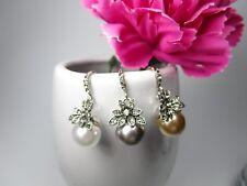 Ohrhänger Ohrringe Vintage antik Perlen Strass Ohrschmuck