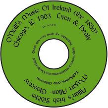 Irish Music (Hard Copy) E-BOOKS on a CD:  O'Neill's O'Carolans Allan's Trad Folk