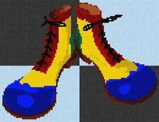 Clown Shoes Fingerpaint Needlepoint Canvas (Home)