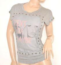 MAGLIETTA GRIGIO manica corta donna t-shirt sottogiacca giricollo viscosa 55X