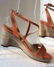NEW MARCHEZ VOUS Anne Apricot Suede Woman's Sandals