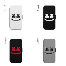 Funda Protectora De Teléfono Móvil Casco marshmello Todos los Samsung e iPhone Cartera