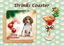 DOG BREED CHRISTMAS COASTER PERSONALISED FREE OF CHARGE SECRET SANTA GIFT IDEA