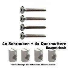 4 od. 8 Schrauben M6 40, 50, 60,oder 70mm + Quermuttern 12mm ,für zb. Ikea Möbel