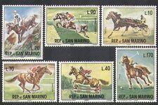 San Marino 1966 Equestrian Sports/Games/Horses/Animals/Nature 6v set (n37073)