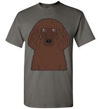 Irish Water Spaniel Dog Cartoon T-Shirt Tee - Men Women Youth Kids Tank Long