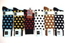 Men's Dress/Casual Happy Socks Black, White, Red, Brown, Cream & Gold Polka Dots