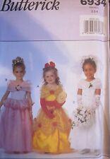 UNCUT Butterick SEWING Pattern 6934  Princess Wedding Dress Halloween Costume