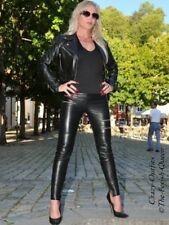 Lederhose Leder Hose Schwarz Zipper Knalleng Größe 32 - 58 XS - XXXL