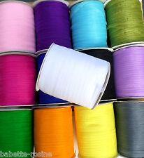 ROULEAU (5 ou 10) mètres de RUBAN ORGANZA * 6 mm * Coloris au choix Dragée Fêtes