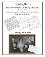 Family Maps Bartholomew County Indiana Genealogy Plat