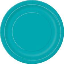 azul verdoso 22cm Fiesta Papel Platos Cena Celebración Barbacoa 1-48pk