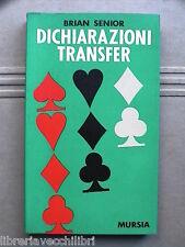Giochi carte Bridge DICHIARAZIONI TRANSFER Brian Senior Trad di Gianna Arrigoni