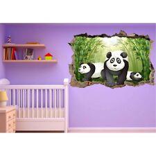 Stickers trompe l'oeil Panda réf 23249