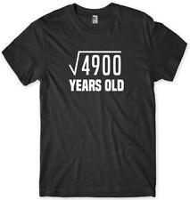 70th Birthday Tee Square Root Maths Funny Mens Unisex T-Shirt