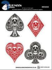 Blue Moon Graphix sticker motocicleta Vespa casco pegatinas poker Skulls bmg0030