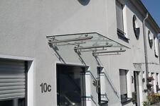Edelstahl-Vordach (Modell: SMART) inkl. VSG-TVG 160/180/210/250/300x100cmx13,5mm