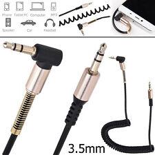 3.5MM Jack Cable de Audio auxiliar aux 90 grados de ángulo derecho para teléfonos móviles