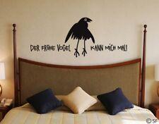 Wandtattoo Der frühe Vogel kann mich mal Wandaufkleber Schlafzimmer uss025