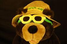 "FLORIDA PAPA BEAR SUNSHADES HAT DRINK BEACH 13"" Plush STUFFED ANIMAL LOVEY TOY"