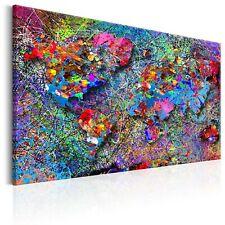 BUNT POLLOCK ABSTRAKT Wandbilder xxl Bilder Vlies Leinwand k-A-0074-b-a