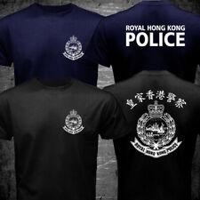 New Rare ROYAL HONG KONG POLICE before handover Black Navy T-shirt