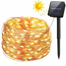 100/200 LED Solar Fairy String Lights Kupferdraht Garten Party Weihnachten Licht