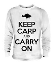 Restez Carpe et de Transport Hommes Drôles T-Shirt Imprimé Pêche Gift Haut Calm
