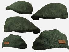 Green herringbone flat CAP,CLOTH ,GOLF FLAT CAP FARMER,CABBIE HAT 6 PENCE