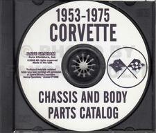 Corvette Master Parts Catalog on CD 1975 1974 1973 1972 1971 1970 1969 1963-1968