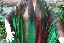 M25 Green Red  Metallc Iridescent 2 Tones Stretch Mesh Net Fabric Material