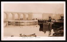 Leftwich nr Northwich. Locks, Barges & Railway Viaduct.