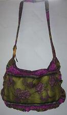 Tasche Umhängetasche Hippy Boho Vintage Strand Stoff Schultertasche lila bag hip