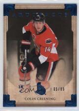 2013 Upper Deck Artifacts Sapphire 15 Colin Greening Ottawa Senators Hockey Card