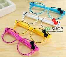 Cool Kitty bow glasses frame pen cute stationary kids gift kawaii 2 pens