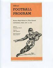 1941 LANSING EASTERN HIGH SCHOOL vs. FLINT CENTRAL FOOTBALL PROGRAM (CHANDNOIS)