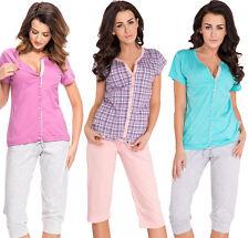Nursing 100% cotton 2-peace Pyjama Set size 8 10 12 14 breastfeeding 5063