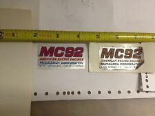 Vintage Go Kart, McCulloch, MC92, Sticker, Decal go cart MC 92 MC-92